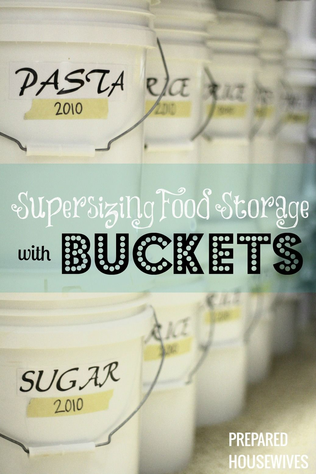 Learn how to package food properly with buckets and mylar