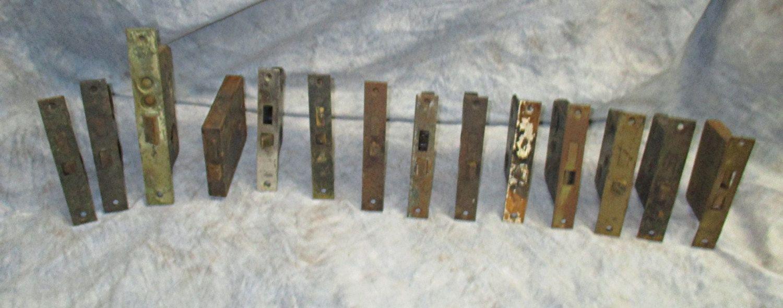 14 Locks Rim Night Latch Dead Bolt Architectural Salvage Door hardware Mortise t Vintage Door & 14 Locks Rim Night Latch Dead Bolt Architectural Salvage Door ...
