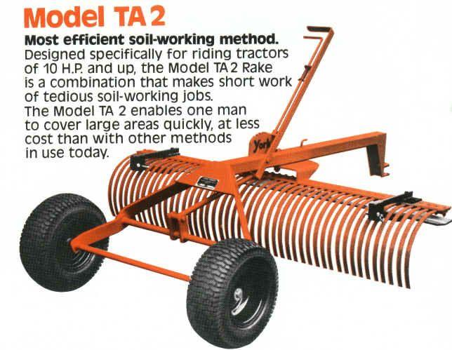 York Rake TA2 Small Garden Tractor, Landscape Rake, Atv Trailers, Small  Tractors, - York Rake TA2 Atv Pinterest Landscape Rake, Small Garden