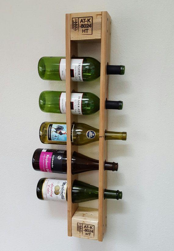 pallet wall wine rack. Reclaimed Pallet Wine Rack. Wall Mounted Vertical Rack