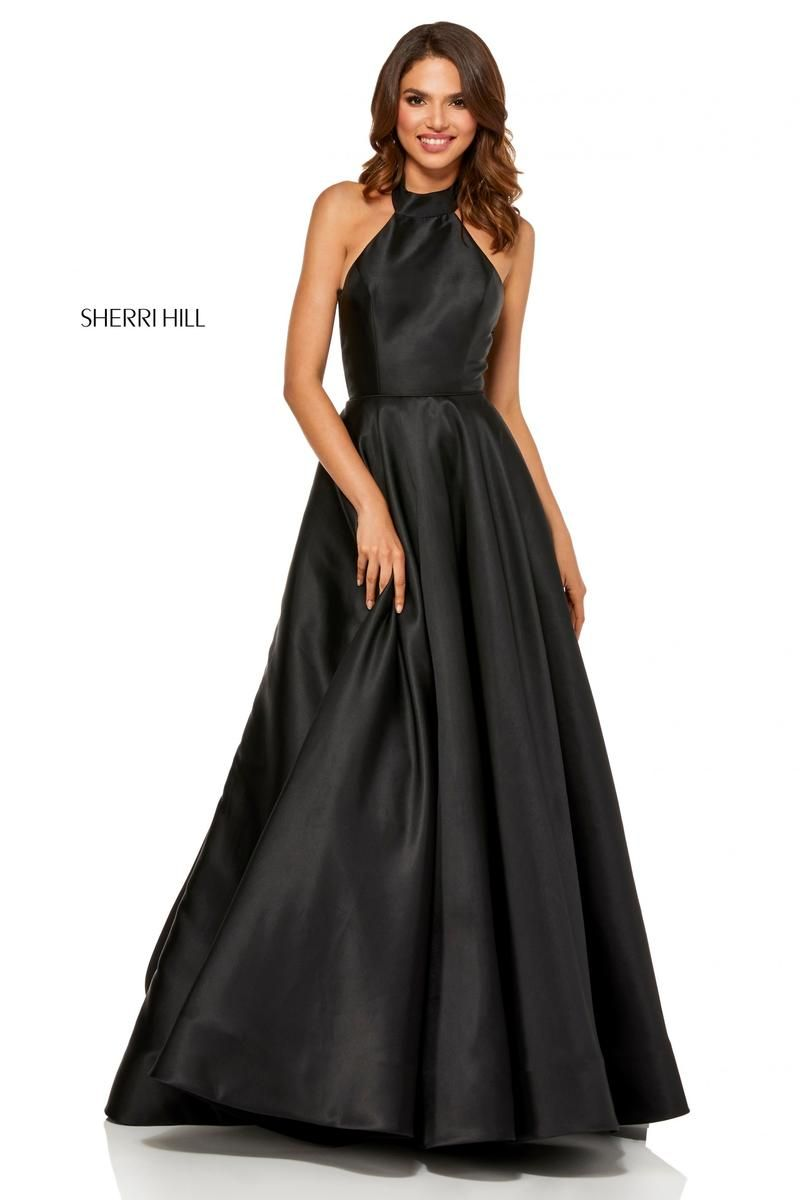 a0eb84cb917 Check out the deal on Sherri Hill 52440 Halter Prom Dress with Lace Back at  French