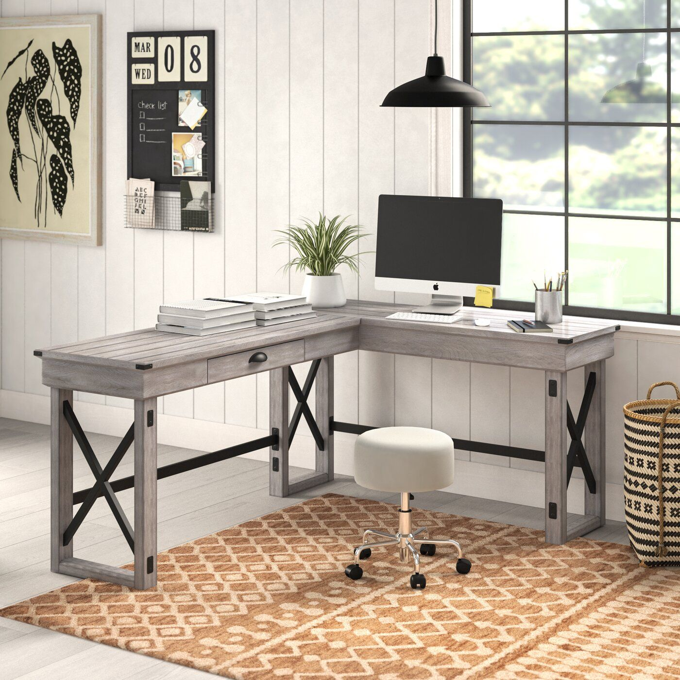 Gladstone L-Shape Standing Desk & Reviews  Joss & Main (With