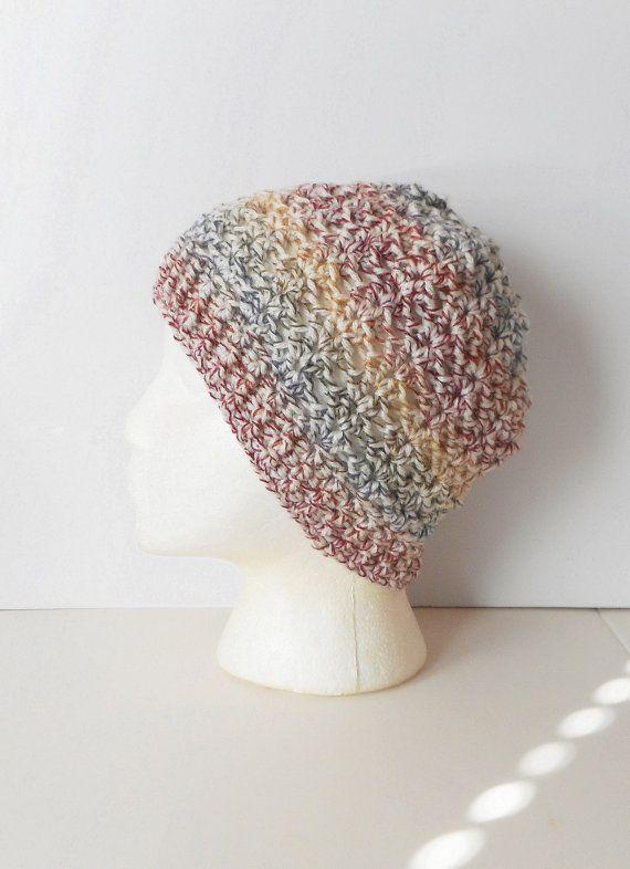 cb7bcb6aa54 Crochet Skullcap Beanie Hat in Autumn Medley ready to by luvbuzz ...