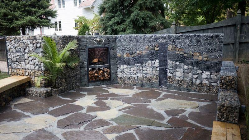 Souvent Mur et clôture gabion: idées pour le jardin en 33 photos! | Idées  QT15