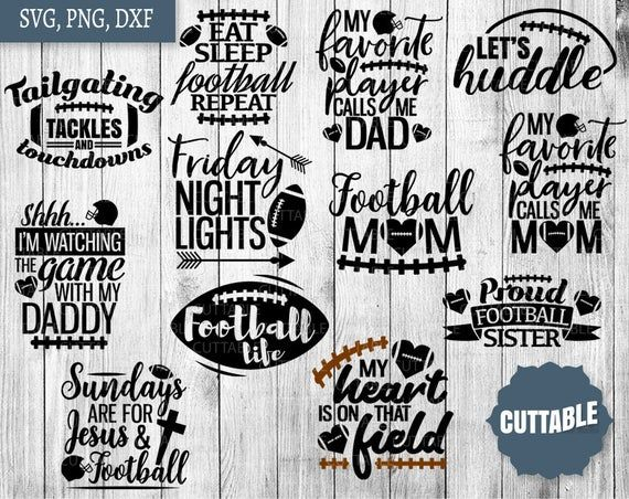 Football SVG Bundle, American football pack cut fi