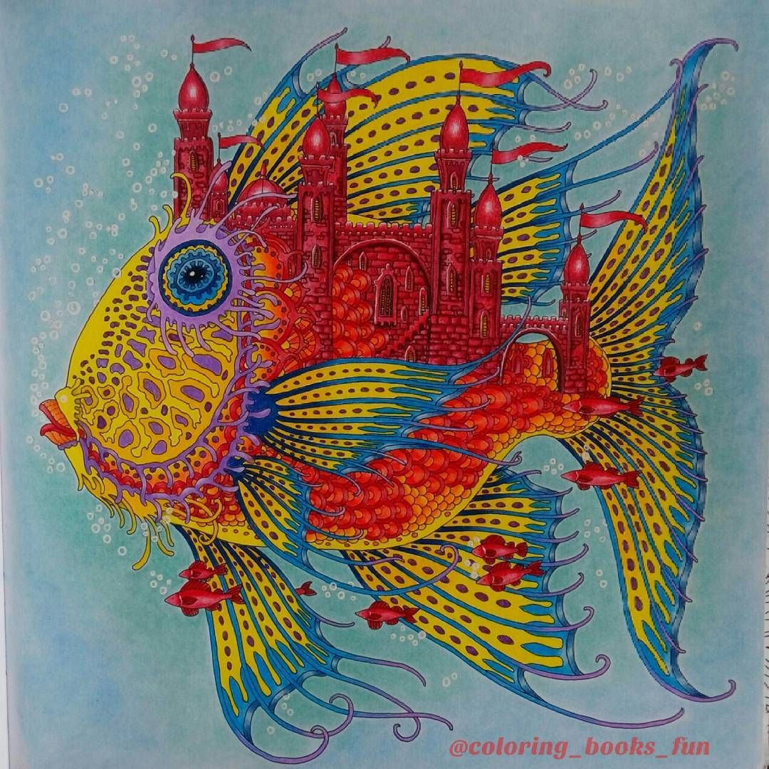 Colorful fish from Zemlja Snova #coloring book. Done with ...