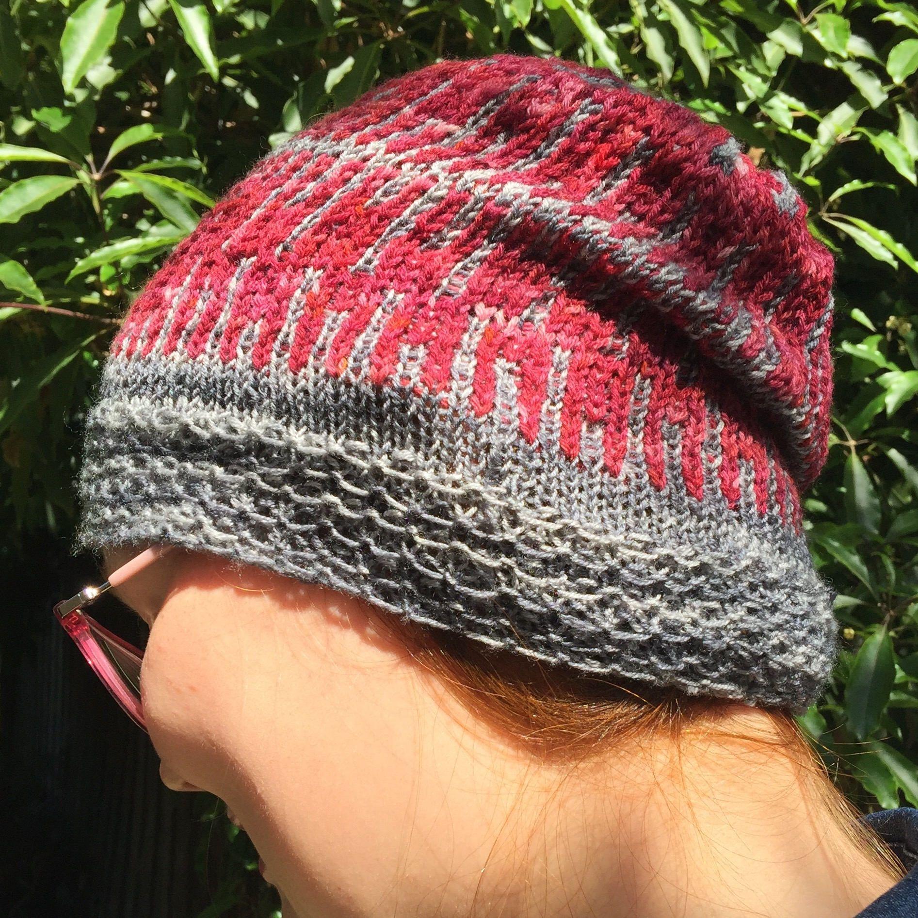Knitting pattern hat pattern slouchy beanie stranded knitting knitting pattern hat pattern slouchy beanie stranded knitting two colour knitting bankloansurffo Choice Image
