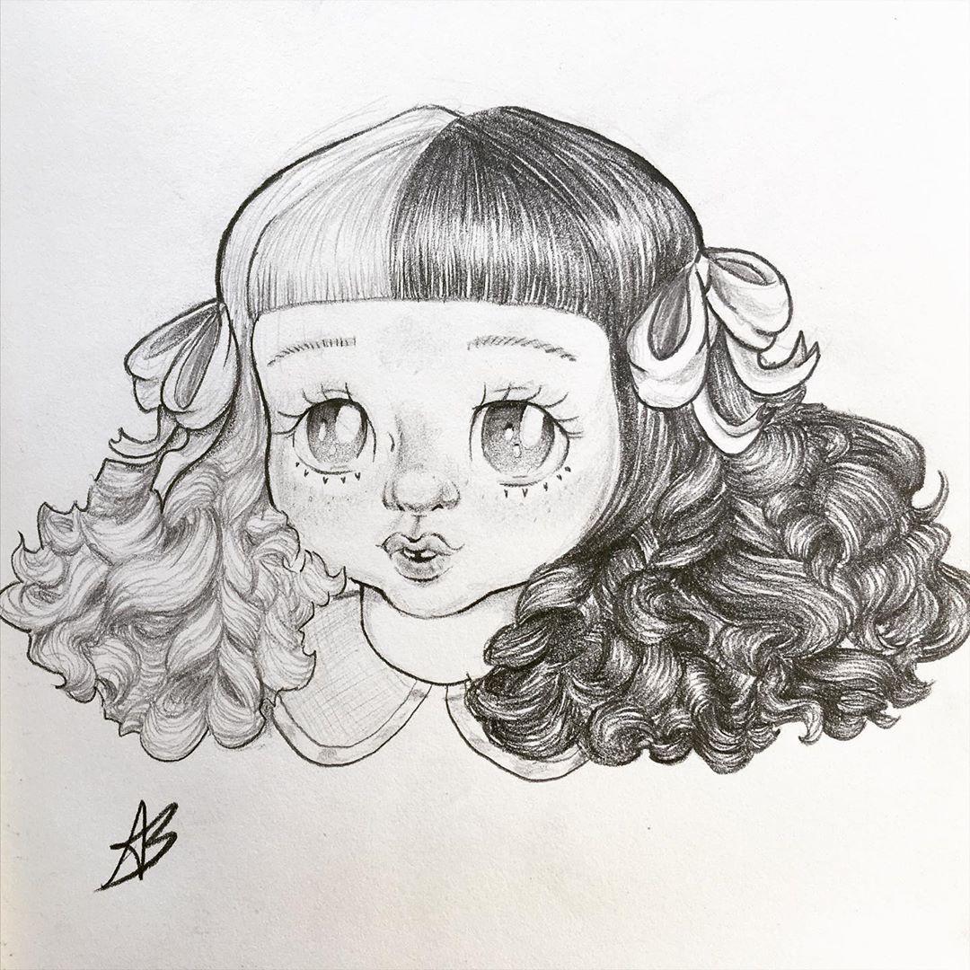 I Am Obsessed With K 12 So I Can T Stop Drawing Mel Melaniemartinez K12 Drawing Fanart Art Pencil Pencilonpape Drawings Fan Art Art