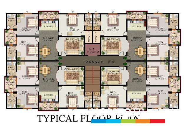 Multi Unit 2 Bedroom Condo Plans Google Search Condominium Design Condominium Plan Luxury House Plans
