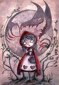 Ilustración de La Caperucita Roja