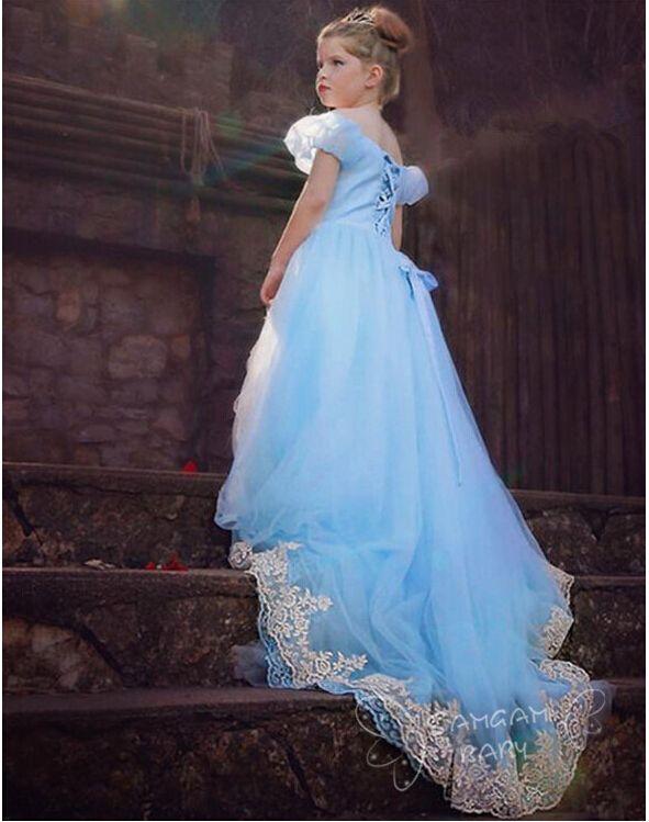 Cinderella Wedding Dress Child : Pc cartoon girl cinderella role playing princess dress