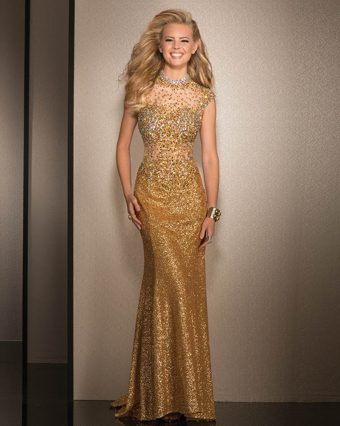 MESMERIZING GOLD DRESS FOR ALL YOU PARTY ANIMALS | Long gold dress ...