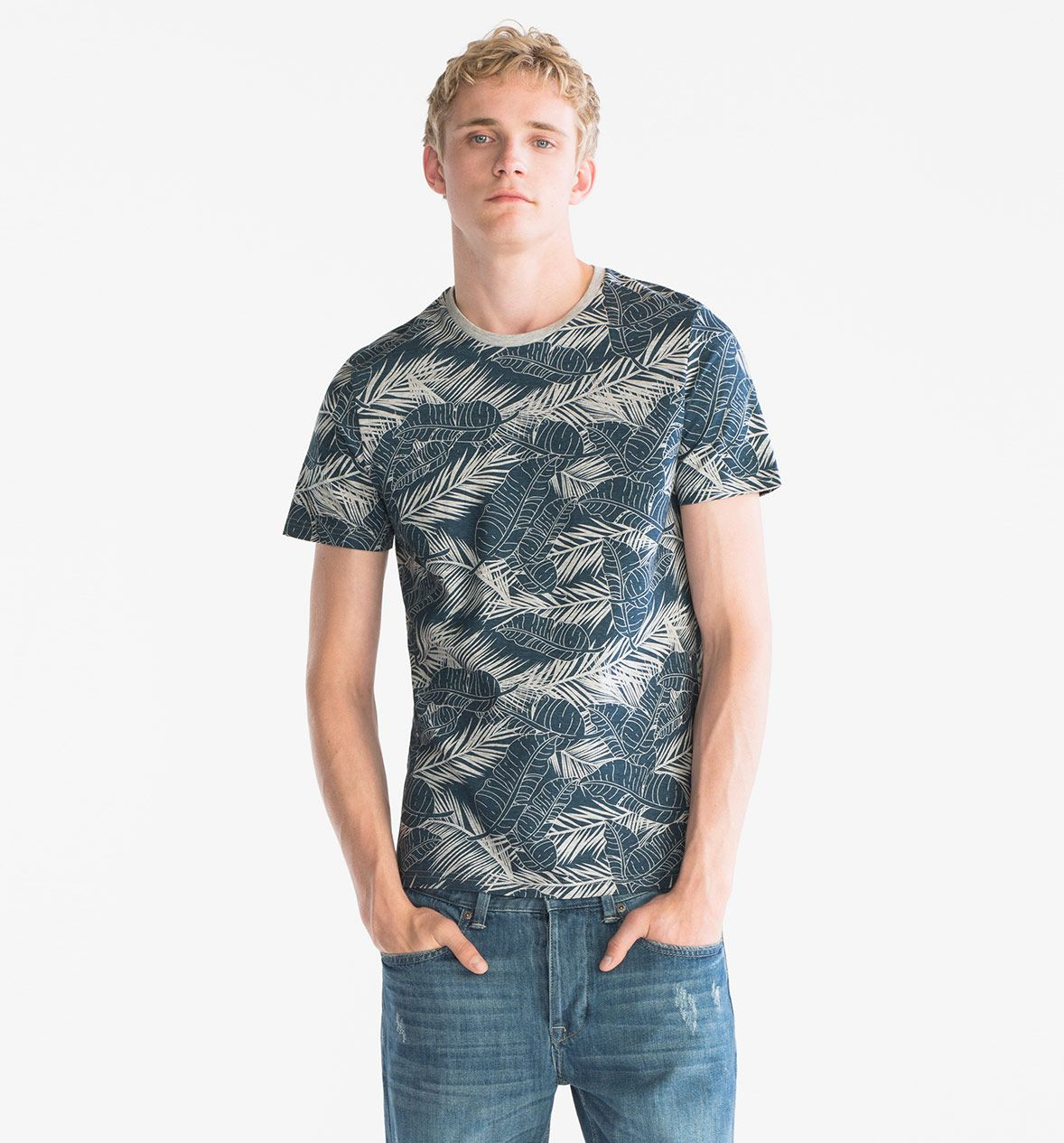 Www Davidemartini Ink For C A Clockhouse Organic Cotton T Shirt In Blue Gray Mode Shirts Kind Mode