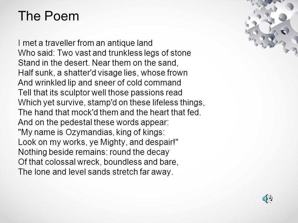 Percy Bysshe Shelley Poem I Met