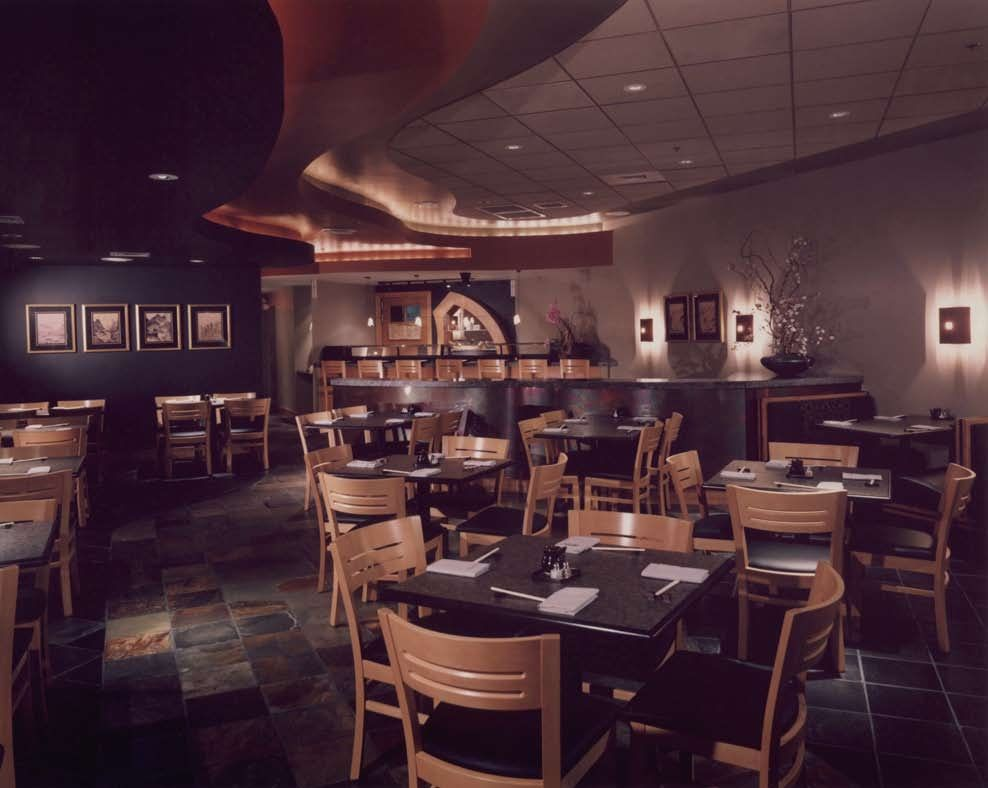 Sushi Restaurant Designer Raymond Evans Design Austin Texas Bar Interior