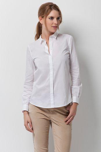 Camisa Blanca Blusas Sport Mujer Pedro Del Hierro Camisa Blanca Camisas Blusas