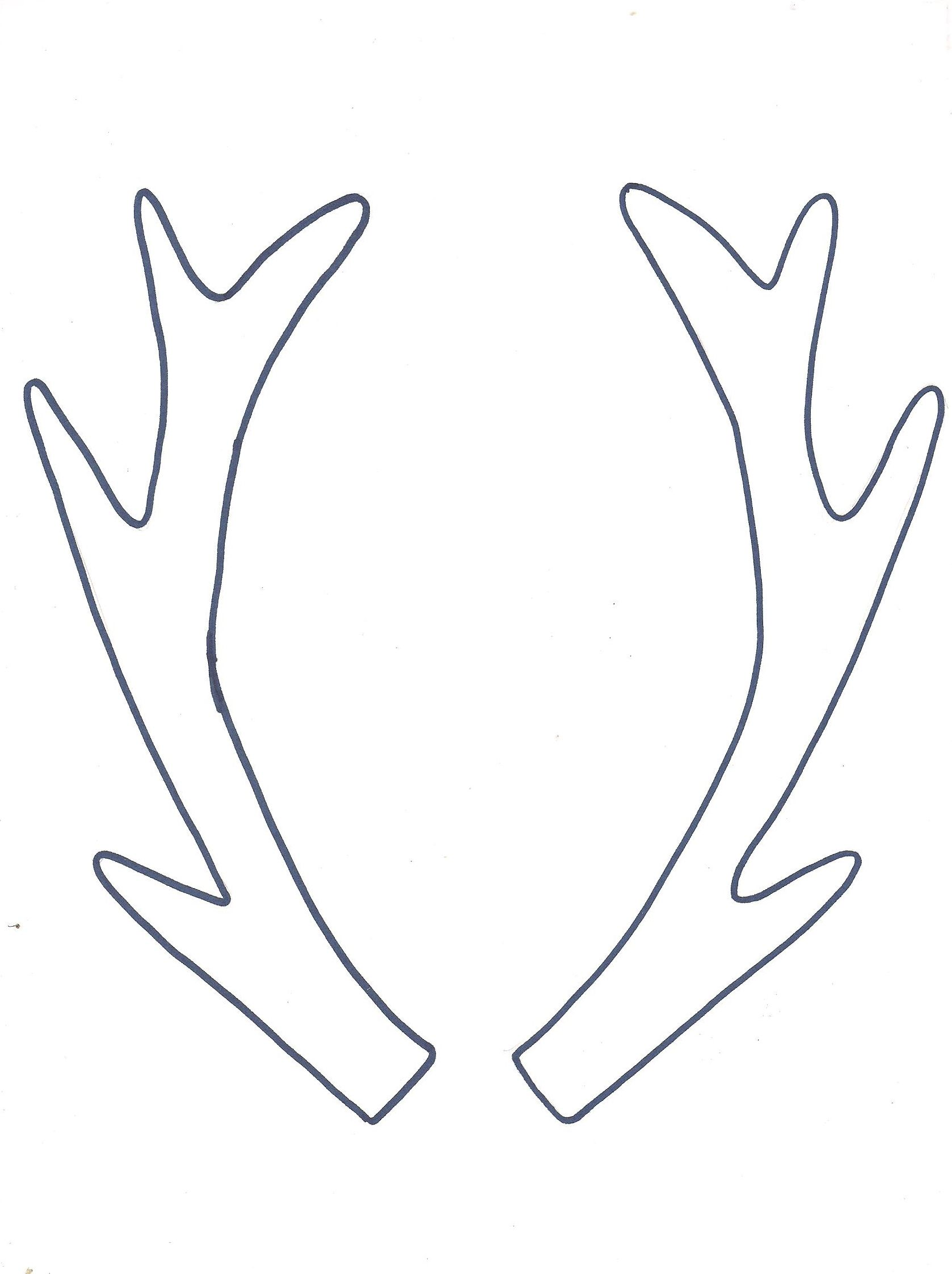 picture regarding Printable Deer Antlers called Trip Hoop Artwork + Totally free Antler Printable Templates