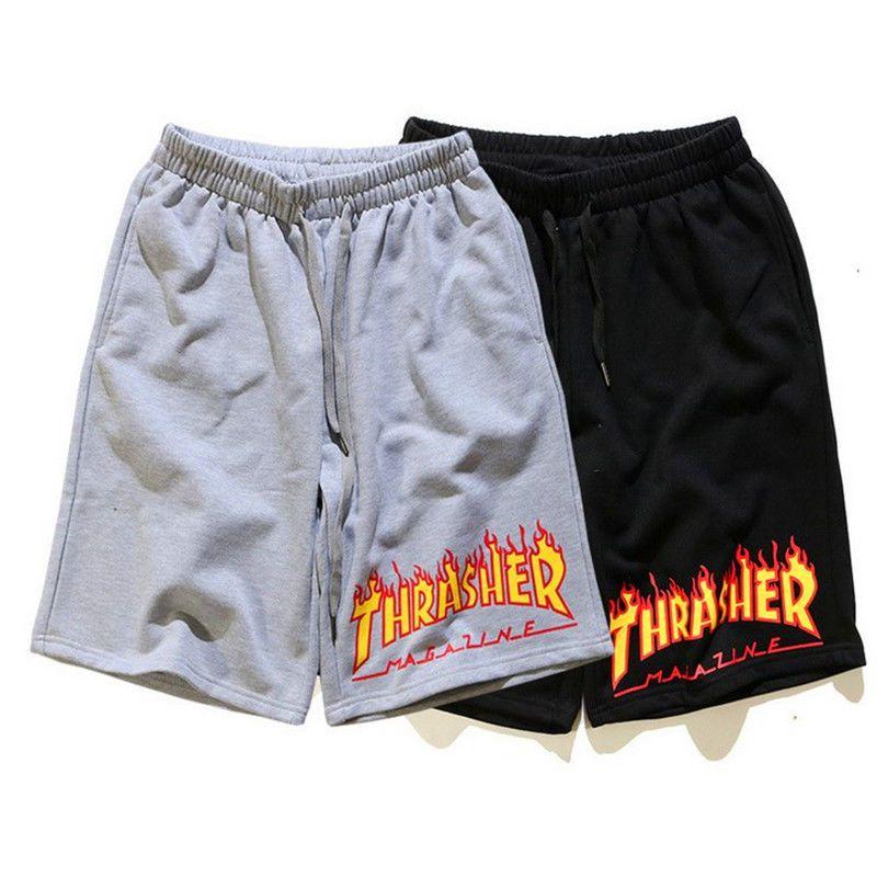 Thrasher Magazine Flame Skateboard Mag Mens Shorts Pants