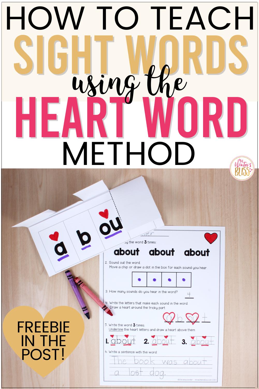 How to Teach Heart Words