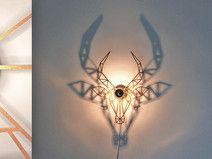 Goldene Wandlampe Gazelle
