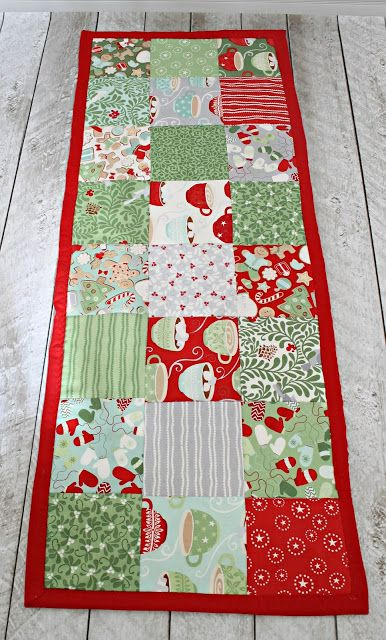 How To Make A Simple Table Runner The Stitching Scientist Quilted Table Runners Patterns Quilted Table Runners Table Runner Pattern