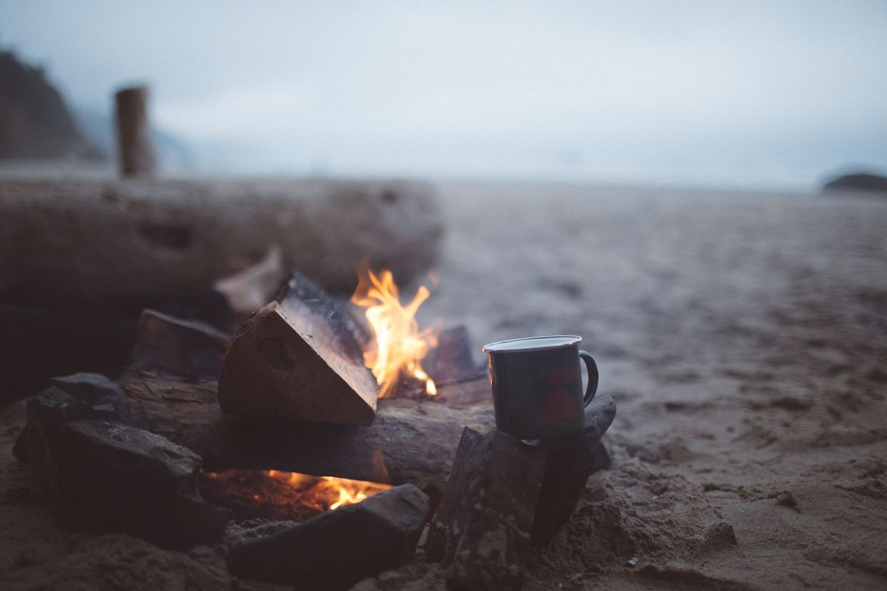 Stay warm on stormy seasides by camp fires. A good time for your #Cozy sweater