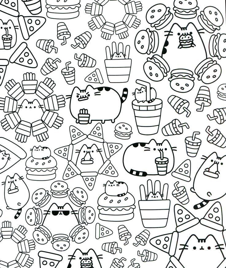 Pusheen Coloring Pages Cartoon Coloring Pages Livre