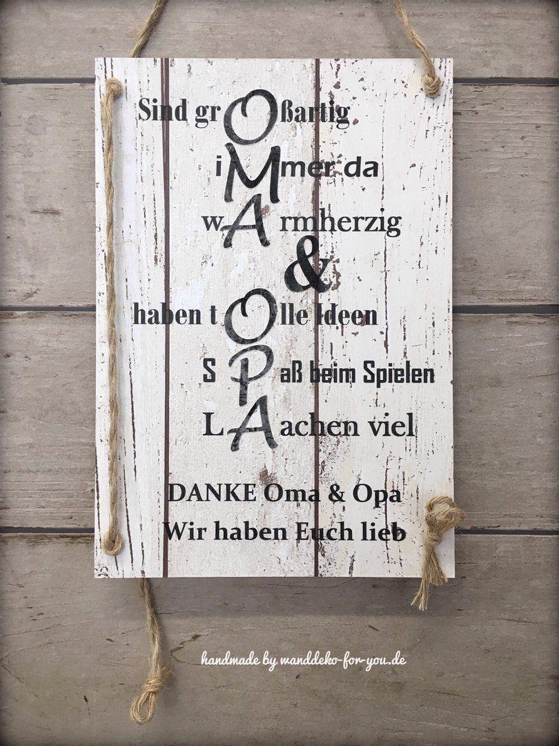 Geschenk mit bleibendem Wert für Großeltern, HANDMADE Schild Oma+Opa,  When a gift is handmade, it carries special meaning. It demonstrates to you took enough time and ef, #bleibendem #für #Geschenk #Großeltern #handmade #mit #OmaOpa #Schild #Wert