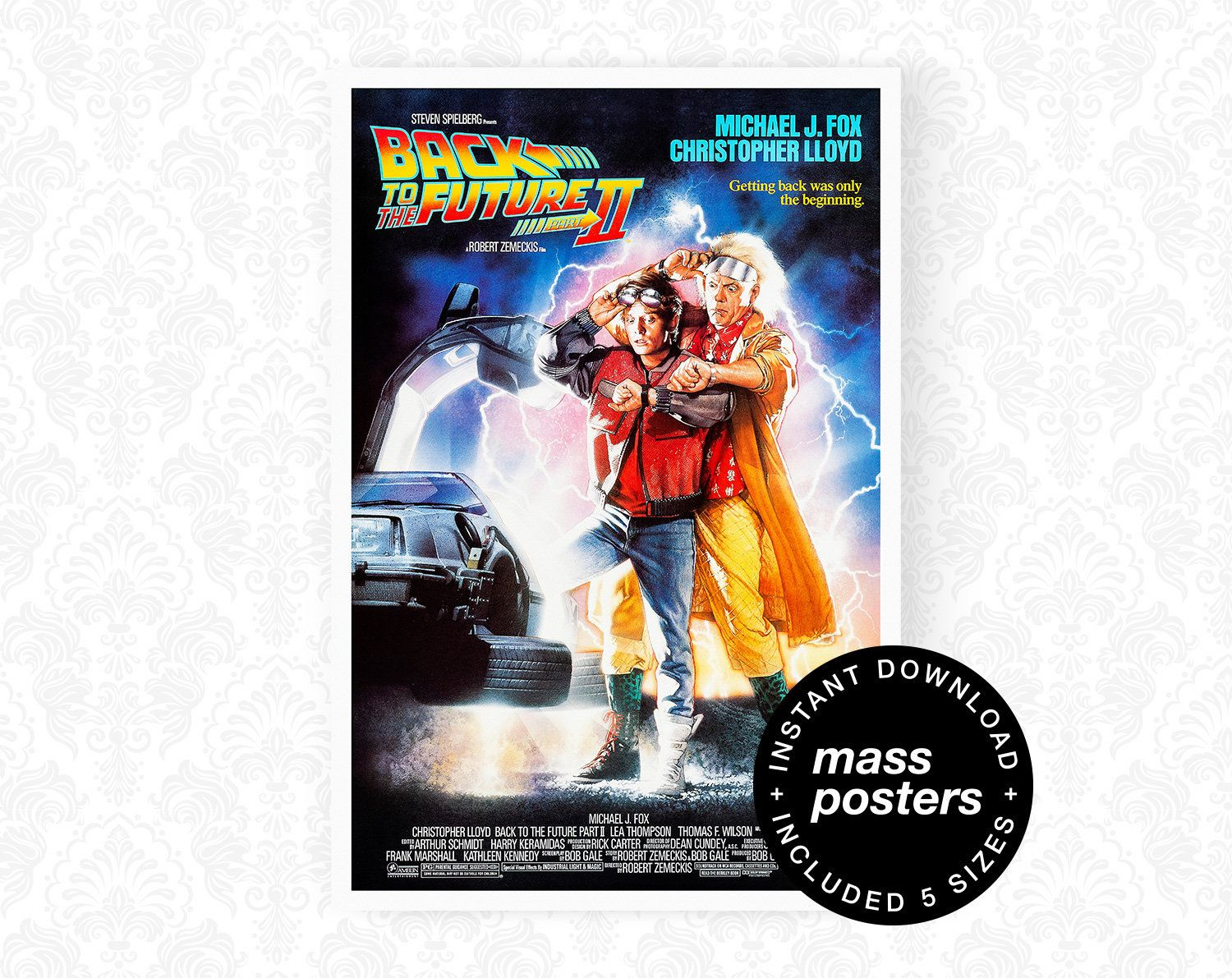 BACK TO THE FUTURE PART II Movie PHOTO Print POSTER FIlm 1989 Robert Zemeckis 1
