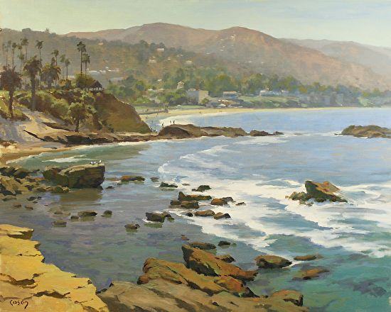 "PAPOH artist John Cosby.  Painting is called ""Laguna Dreaming""."