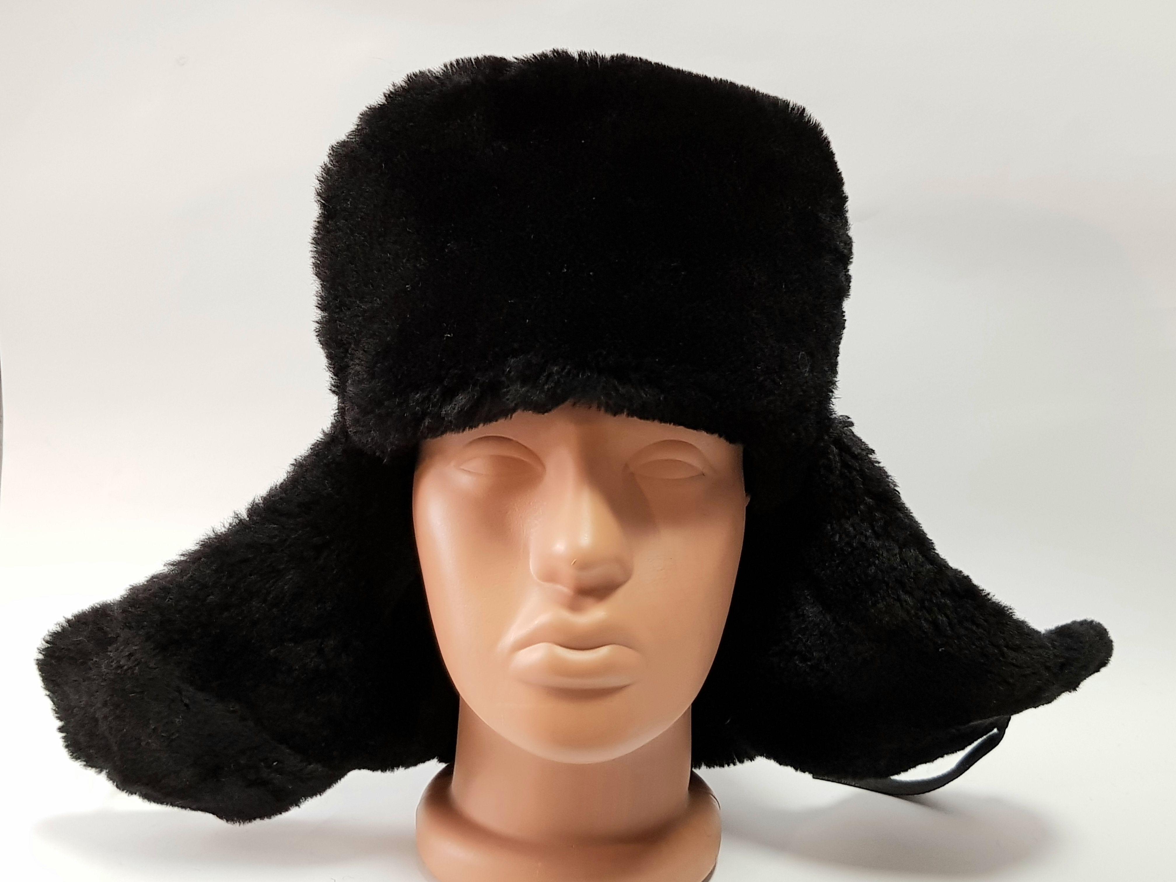 Russian Hat Ear Flap Soviet Ushanka Real Fur Hat Mouton Winter Etsy Ushanka Russian Hat Hats