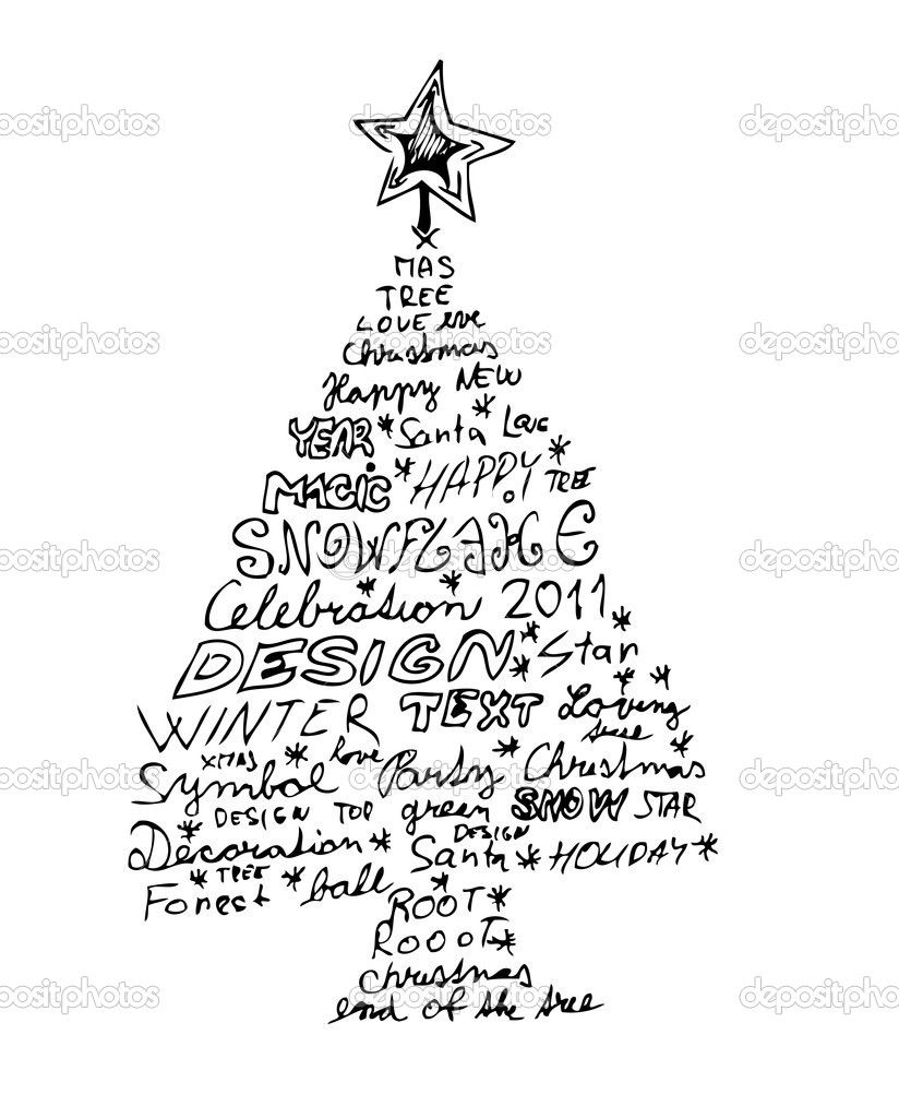 interesting christmas tree drawings Google Search Easy