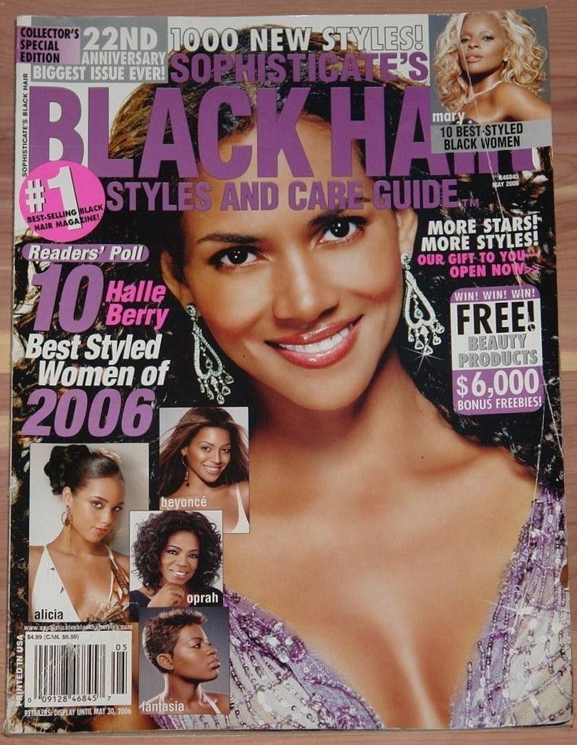 May 2006 Halle Berry In 2020 Black Hair Magazine Black Hair Hair Magazine