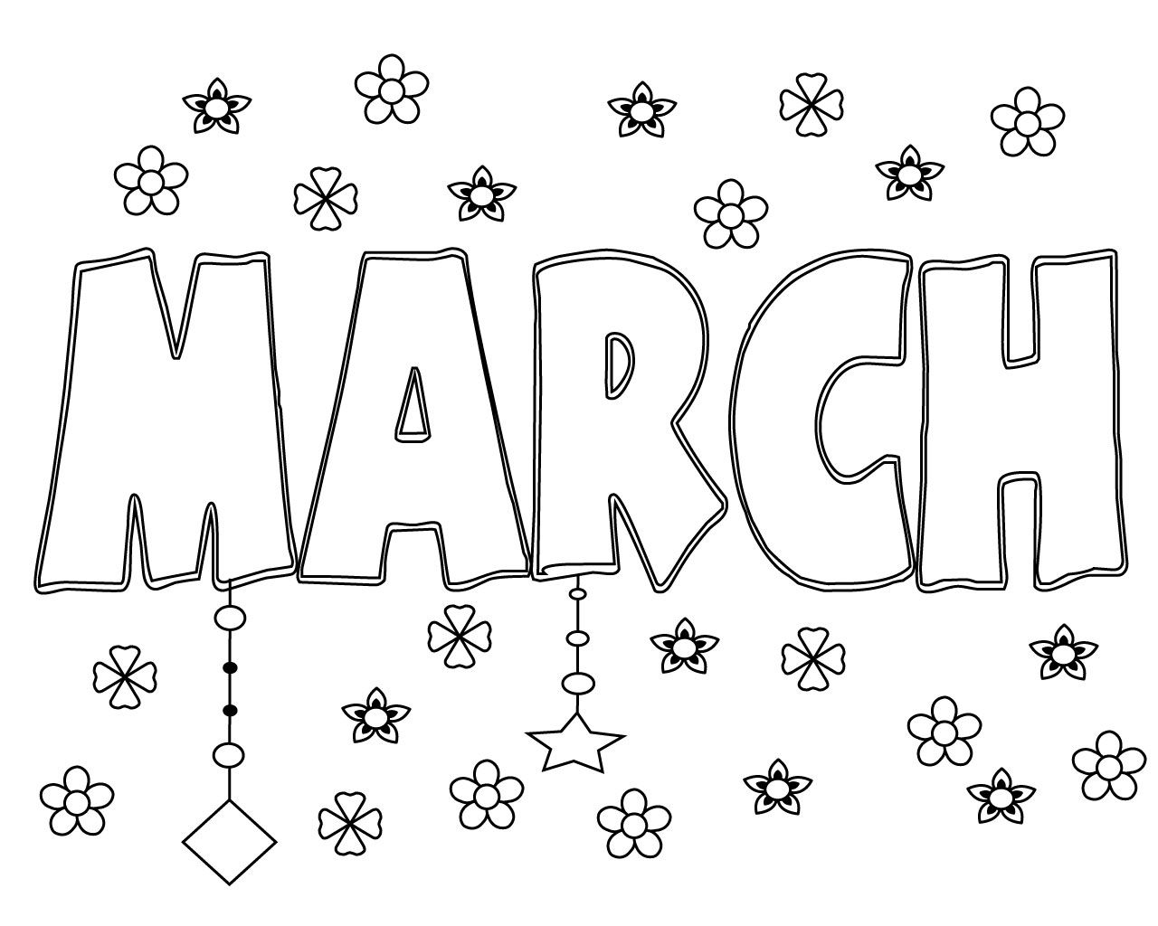 Free Printable March Coloring Pages For Kids