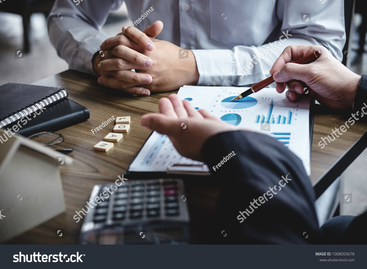 Real Estate Broker Agent Being Analysis And Making The Decision A Home Estate Loan To Customer To Sign Mortgage Loans Layout Design Inspiration Signed Contract