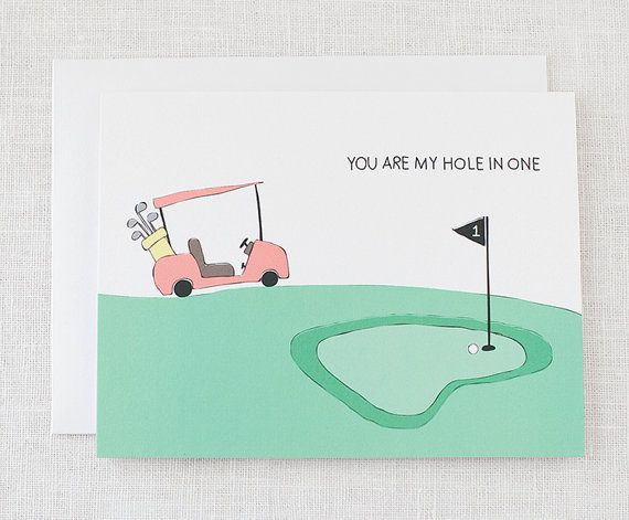 """you are my hole in one"""" valentine/love card 