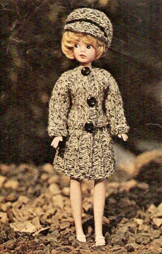 Chanel Style Suit Vintage Doll Knitting Pattern 371 Vintage Dolls