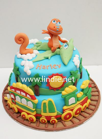 Outstanding Dinosaur Train Cake Topper With Images Dinosaur Birthday Cakes Funny Birthday Cards Online Alyptdamsfinfo