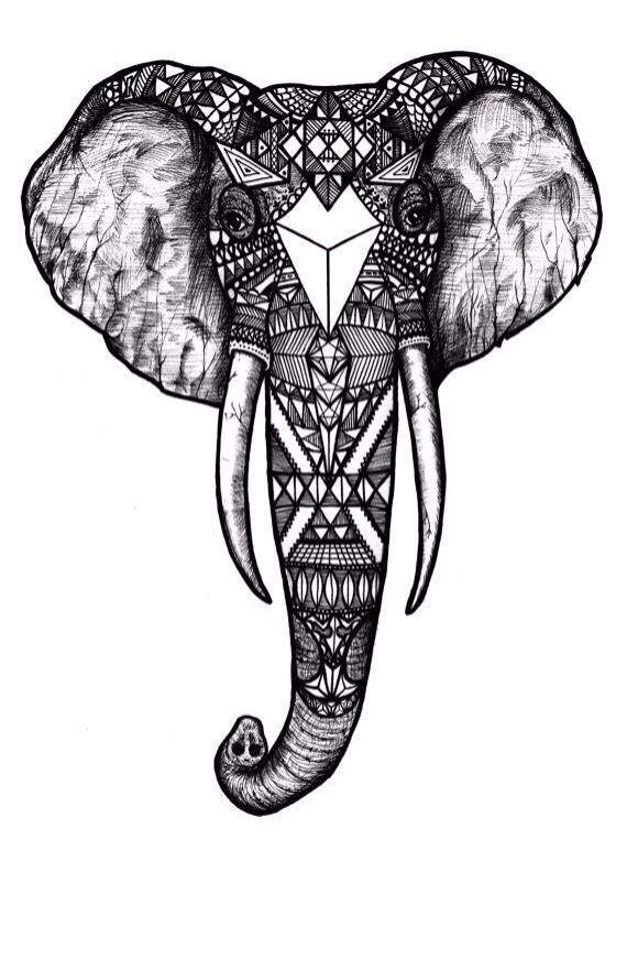 Aztec Elephant Elephant Tattoos Tattoos Elephant Tattoo
