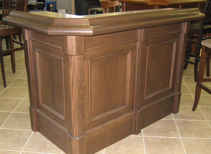 """OAK 60"""" Traditional style HOME BAR Thebarstore"""