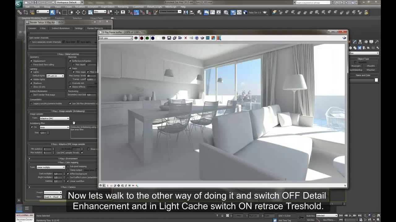Linear Workflow In V Ray For 3ds Max Interior Design Kiến Truc