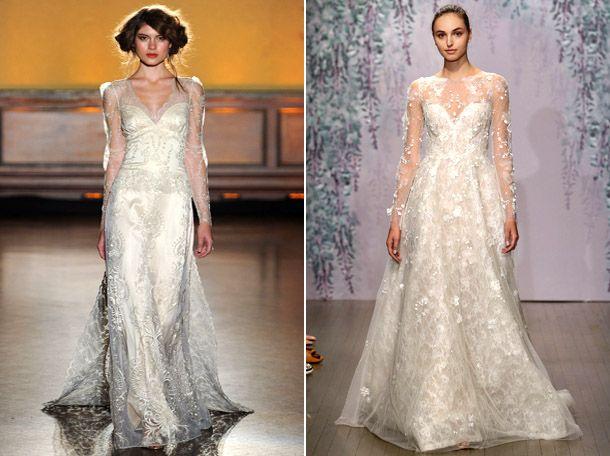 Свадебные платья с прозрачным рукавом 2017