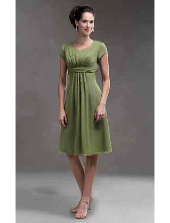 designer elegant grünes kleid knielang vertrieb | grünes