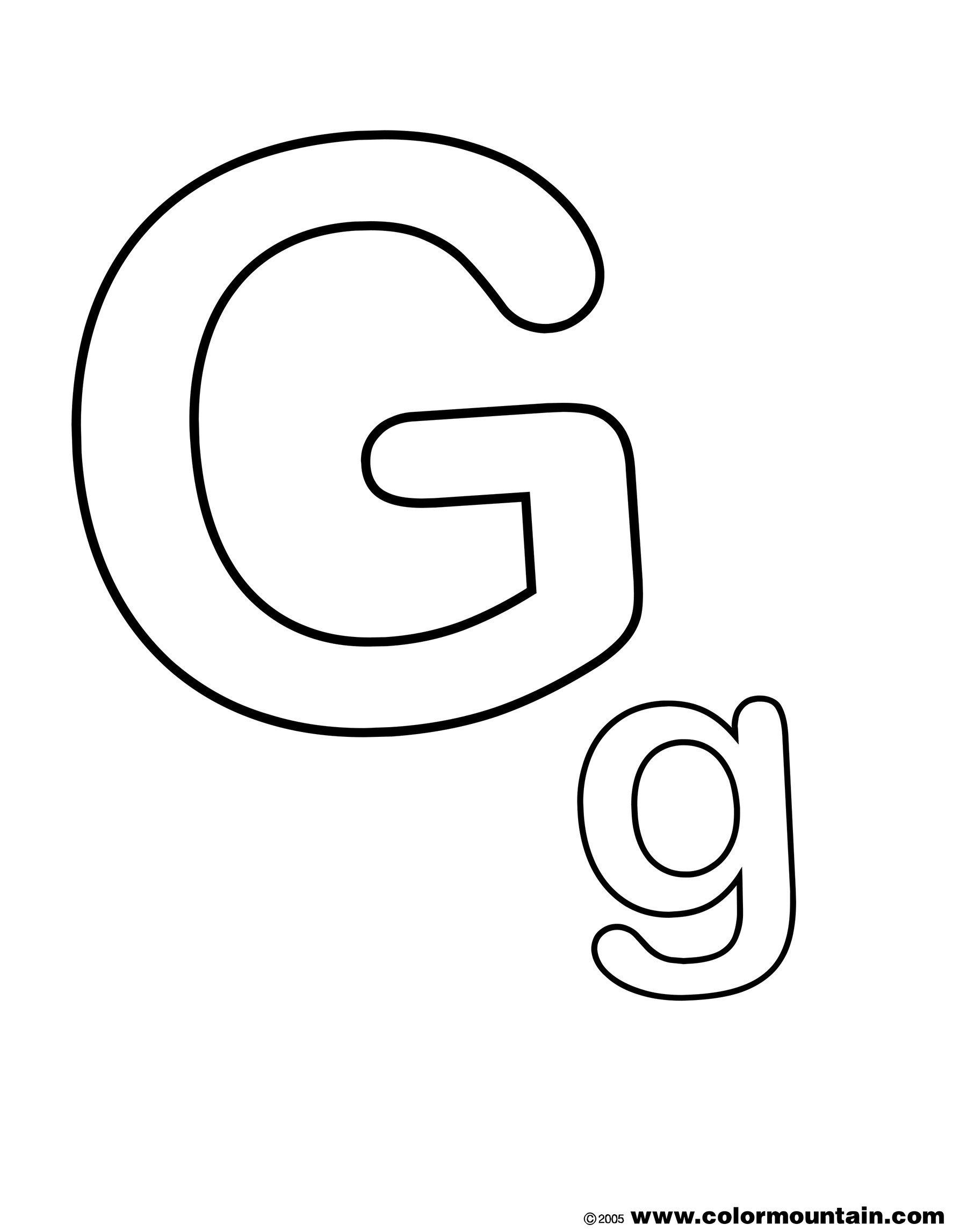Letter G Coloring Pages The Letter G Coloring Page Create A Printout Activity Picture Letters Coloring Letters Personalized Coloring Book
