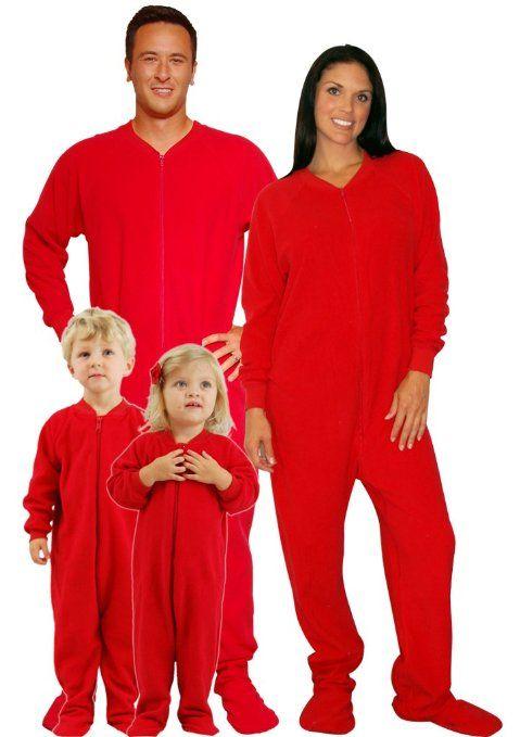 97c44217f220 Matching Family Christmas Pajamas  Red Footed Pajamas