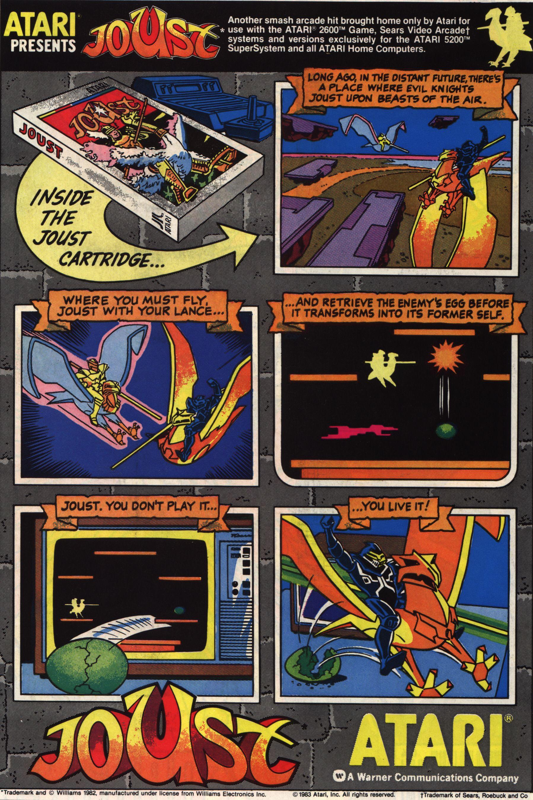 Atari Presents Joust Vintage video games