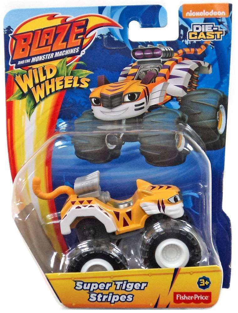 Blaze The Monster Machines Super Tiger Stripes Age 3 Fisher