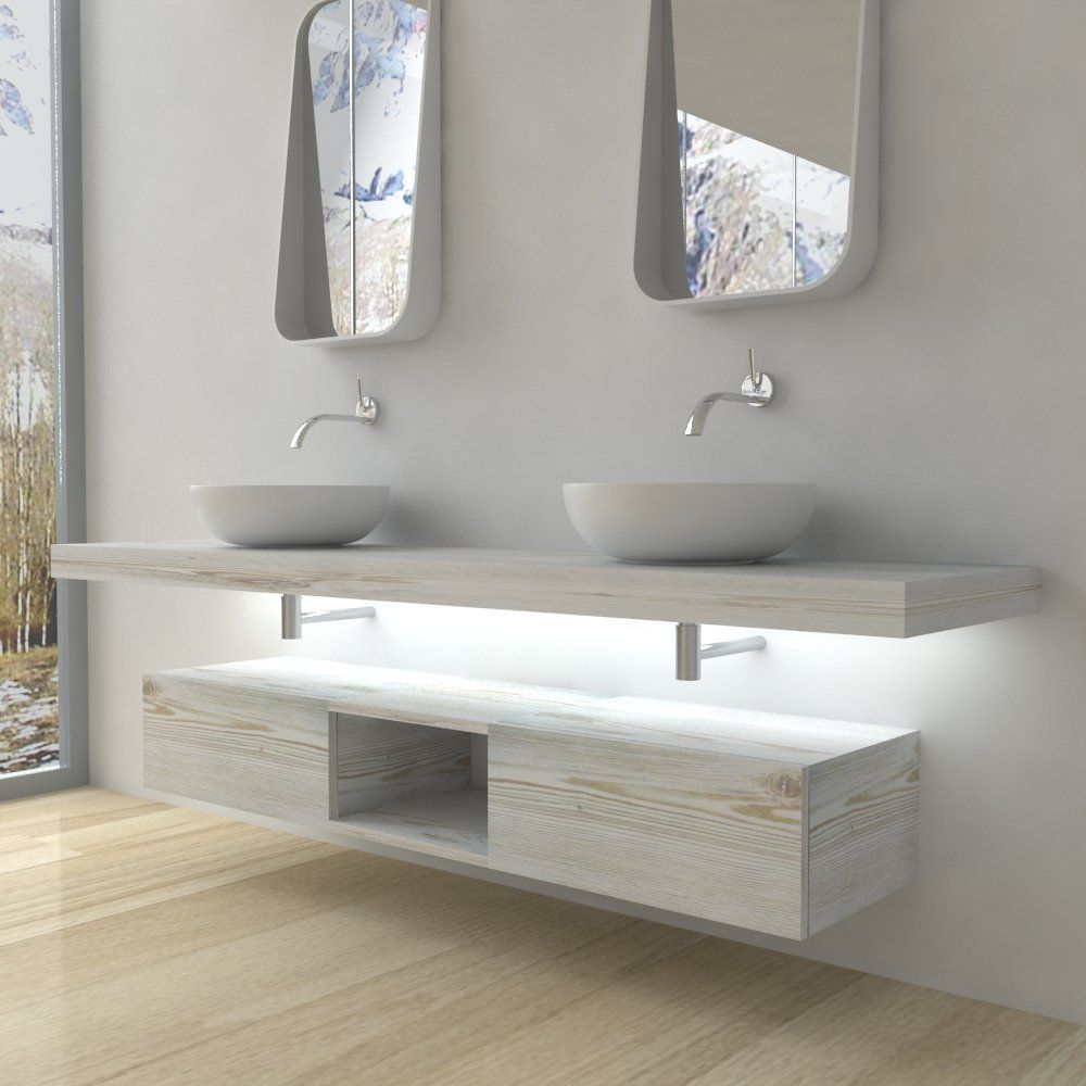 Mobili bagno Mensola per lavabo con LED Arredamento