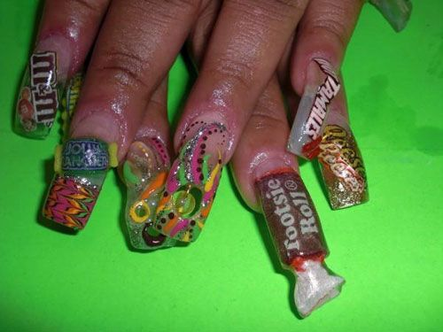 Top 10 Worst Manicures Ever Crazy Nail Designs Crazy Nails