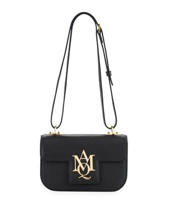 Logo Flap Shoulder Bag Black By Alexander Mcqueen At Neiman Marcus